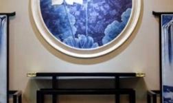 家里装荷花背景墙寓意怎么样?品革6D浮雕背景墙告诉你