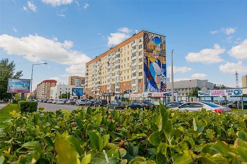 芬琳漆为哈萨克斯坦首都街头艺术新环境提供保障