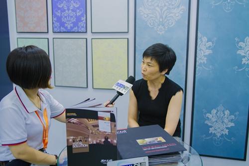 【中国建博会特辑】建材网专访现代大师市场部总监――王永芳