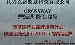 克洛斯威硅藻泥荣获硅藻泥行业2018领军 品牌