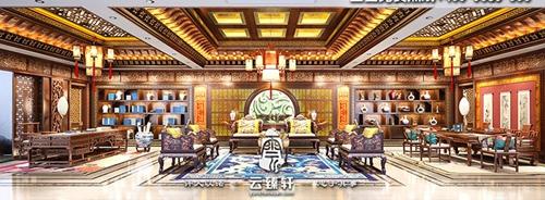云臻轩带您赏析高端古典四合院中式会所设计装修