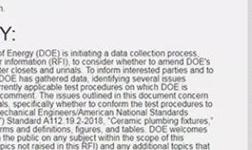美國修訂抽水馬桶和小便池測試程序的技術法規