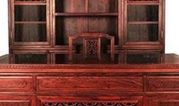 大红酸枝办公台书柜有什么优势?小编带您看看