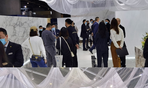 峨眉山金陶岩板首次亮相 2020广州设计周人气爆棚