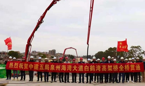 中建商砼惠安廠助力海灣速度,白鶴灣高架橋順利實現全線貫通