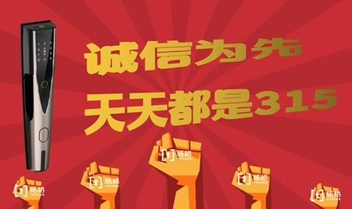 智能锁十大品牌杨格指纹锁:诚信为先 天天都是315