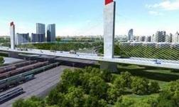 保定樂凱大街南延轉體斜拉橋橋梁轉體重量和跨度刷新世界紀錄