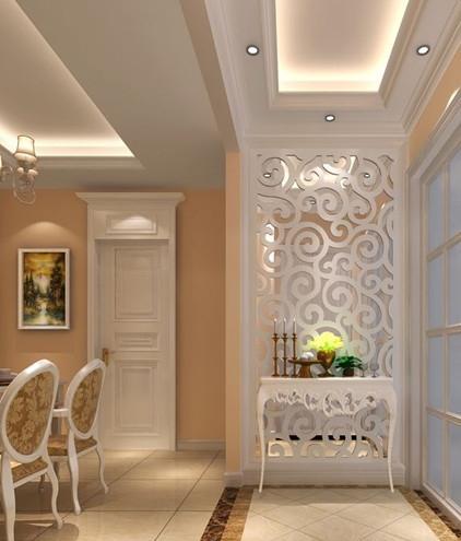 三室两厅装修 大门对着卫生间 屏风 效果图