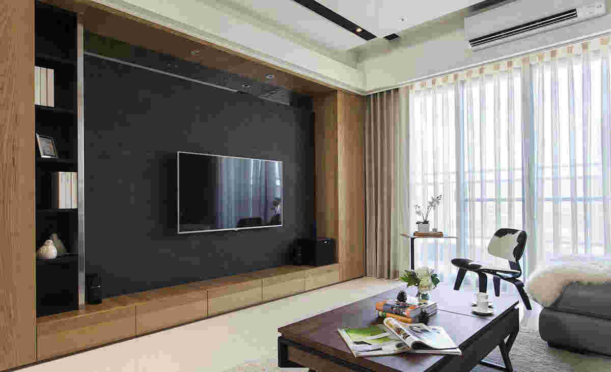集成墙面 >蓝色电视背景墙效果图 家装电视墙与墙壁颜色选择     客厅