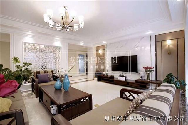 昆明装饰公司100平两室两厅装修案例