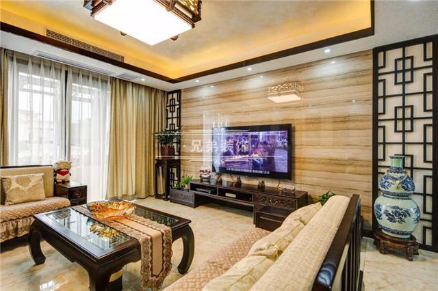 新中式电视机背景