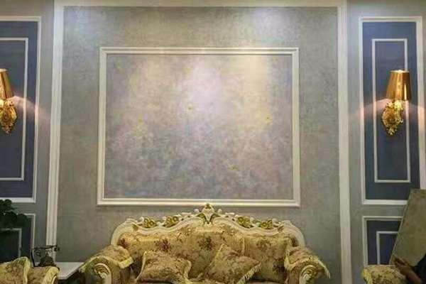 艺术漆背景墙装上边框,欣赏另一种美!