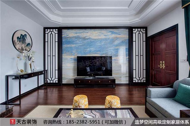 重庆新中式别墅装修实景图|远洋高尔夫联排别墅案例