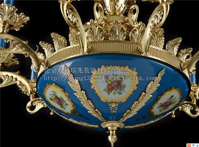 法式灯欧奢华大气客厅餐厅灯浪漫别墅宫廷法式欧式锌合金水晶吊灯
