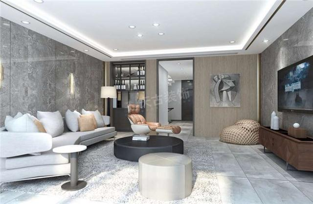 室内墙面,地面,顶棚以及家具陈设乃至灯具器皿等均以简洁的造型,纯洁