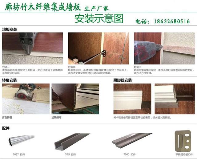供应竹木纤维集成墙板/集成墙面/装饰墙板/廊坊生产厂家直销