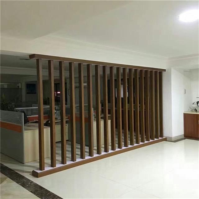 湛江书城木纹铝方通装饰丨U型铝方通