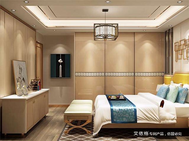 艾依格新中式卧室衣柜定制