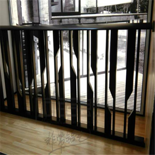 江苏简约风格别墅-现代简约风格铝艺栏杆-依偎