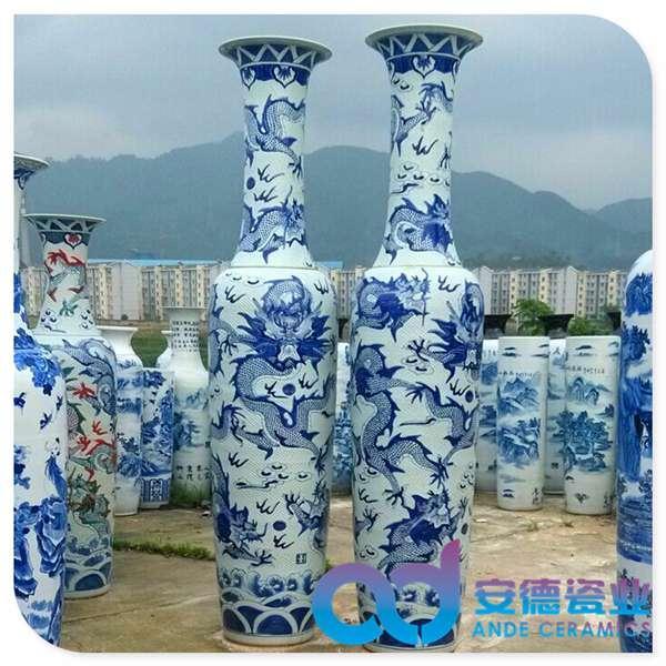 落地陶瓷大花瓶 景德镇陶瓷大花瓶 手绘