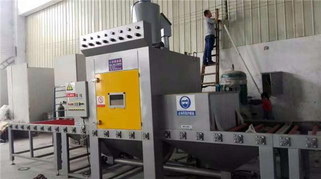 厂家直销自动输送式喷砂机 玻璃瓶磨砂处理设备 玻璃蒙砂