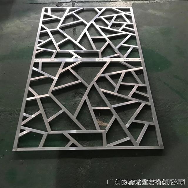 木纹型材铝窗花金属铝隔断生产厂家