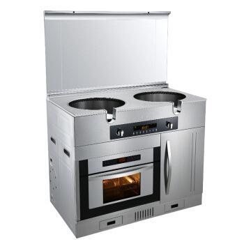 美大(MEIDA)喜临门8K 环吸下排集成灶烟机燃气灶烤箱高端集成灶