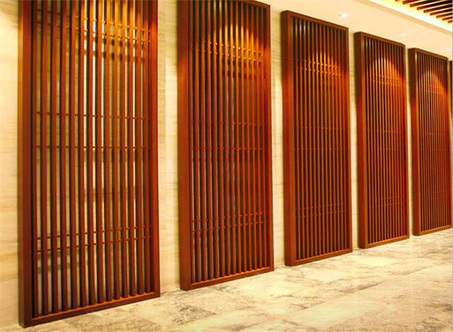 街道窗户仿古铝花格-仿古中式铝花格定制