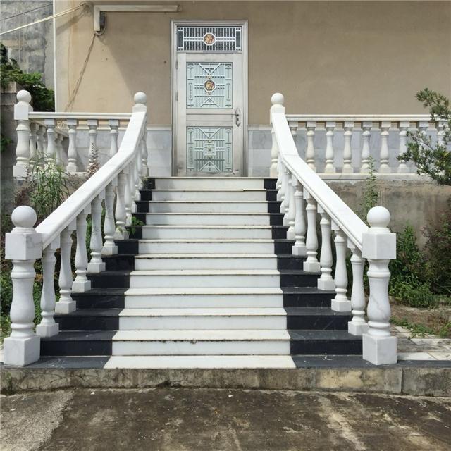广西石立方专业定制大理石扶手,大理石小柱