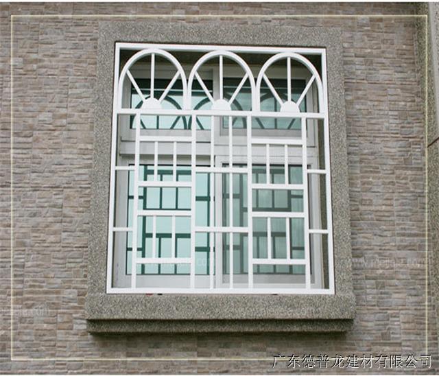 铝合金防护窗花 仿木纹色铝窗花 型材氟碳铝窗花艺术