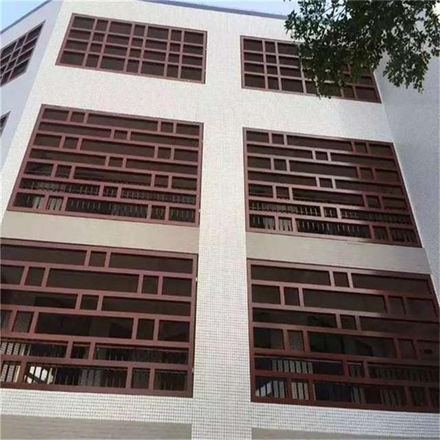 宁德街道外墙改造仿木铝合金窗花_铝窗花厂家直销