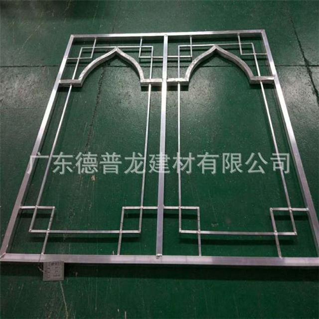 装饰型材铝花格 仿木纹铝窗花 铝合金窗花专业生产厂家