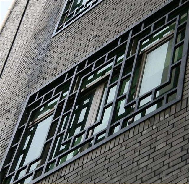 铝合金窗花 仿古木纹铝窗花  仿木纹铝窗花厂家