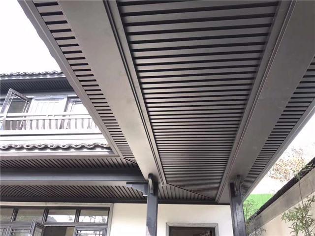 上海铝合金屋檐板,挑檐装饰板,格栅装饰挑檐版
