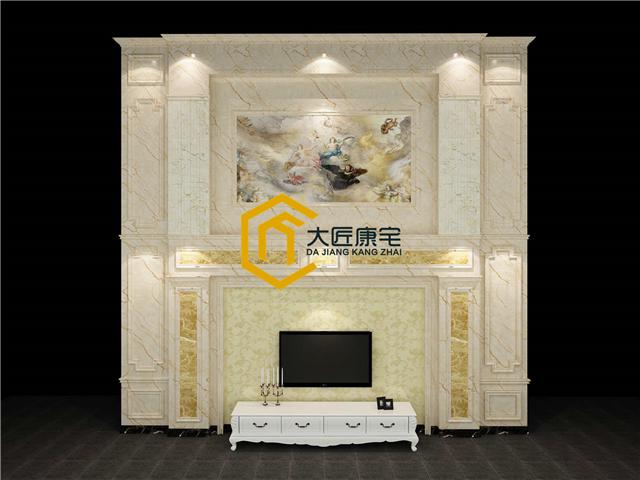 济南电视台对大匠康宅家装有氧整体背景墙进行全程报道