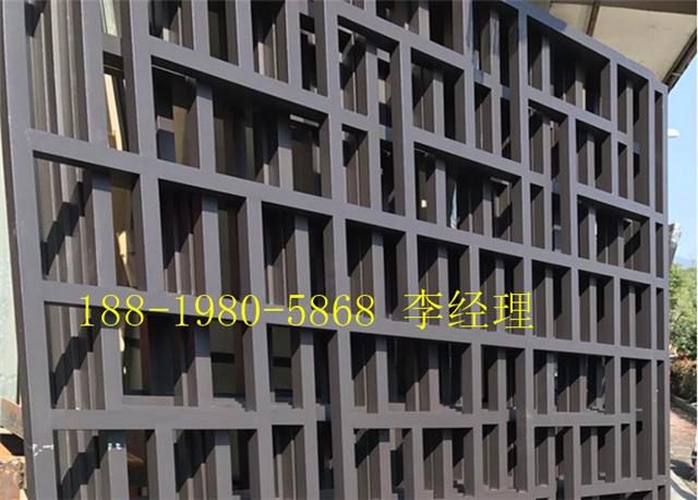 湖口县街道改造仿古铝窗花\仿木纹铝花格\铝合金挂落
