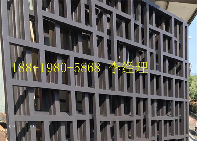 江西省芦溪县街道改造仿古铝窗花\仿木纹铝花格\铝合金挂落