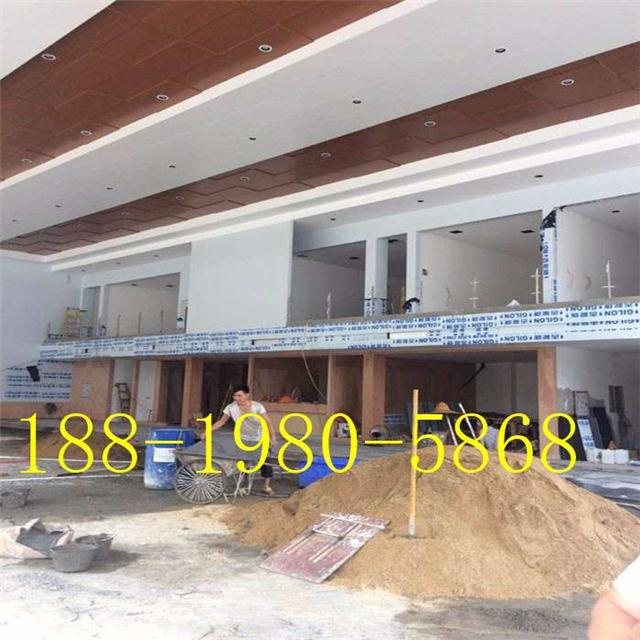 白银市广汽本田4S店展厅白色金属板\铝单板、木纹覆膜金属板定制