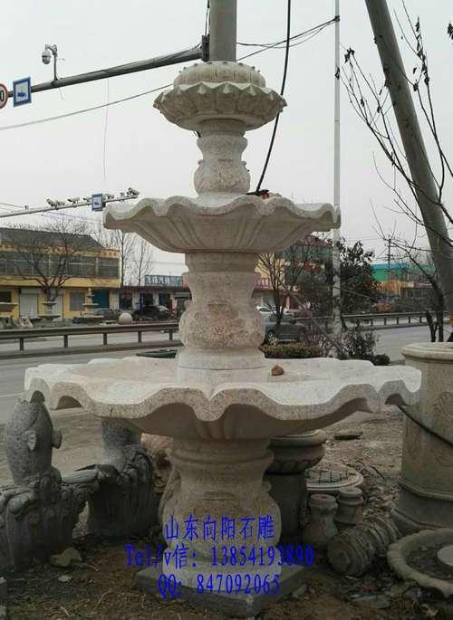 梅河口市园林石雕喷泉价格、黄锈石水钵厂家、黄金麻别墅水钵