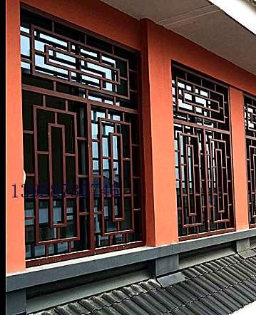 陕西街道改造铝合金窗花 欧式铝窗花 港式铝合金窗花