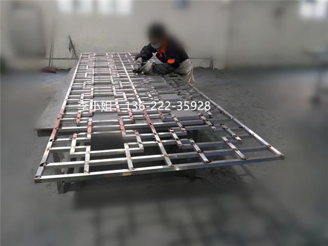 中式风格铝屏风铝窗花产品制作工艺过程