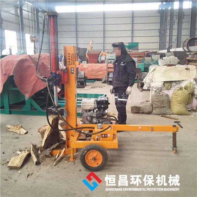 电动液压式小型劈木机 卧式立式劈柴机 汽油机动力劈木机图片