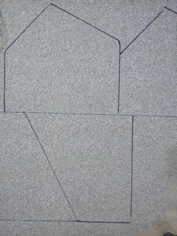 文化石 > 2018芝麻灰冰裂纹石材        将冰裂纹纹样应用于广场铺装