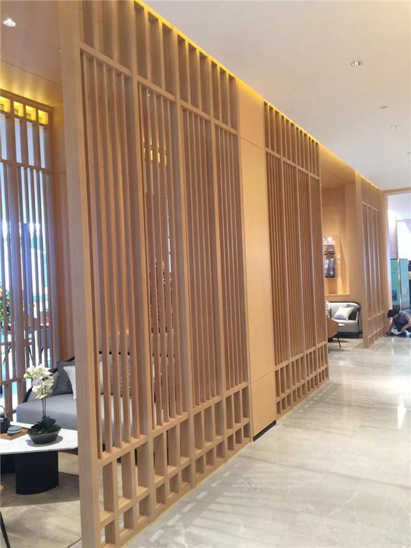 室内专用1.5mm2.0mm厚木纹铝窗花屏风|型材冰裂花式铝花格铝隔断