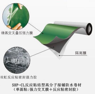 1.5厚CPS-CL反应粘结型高分子湿铺防水卷材  销量领先