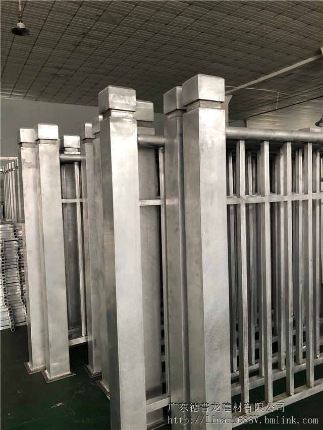 校区木纹色铝合金护栏安全可靠