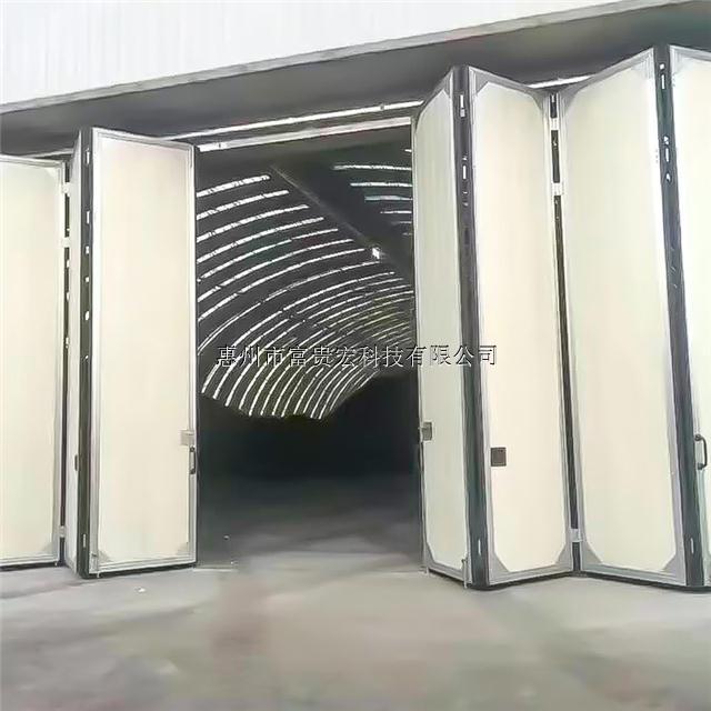供应虎门镇、石碣镇、莞城电动折叠门,电动平开门,工业柔性大门