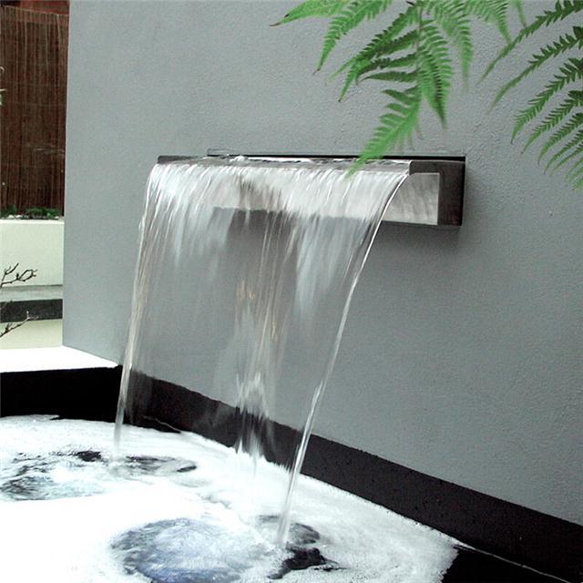 供应简约型瀑布流水墙鱼池流水造景装饰图片