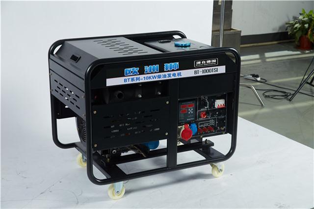 半自动10千瓦柴油发电机工业使用