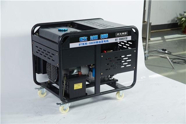 半自动10千瓦柴油发电机小型机